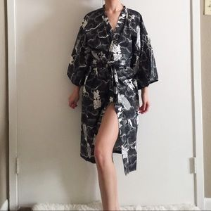 Vintage Authentic Japanese Cotton Kimono.-Y1.